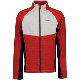Icepeak Delton Midlayer Jacket Men, rood/grijs